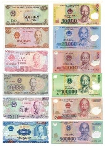 호치민 초상화가 그려진 베트남 지폐